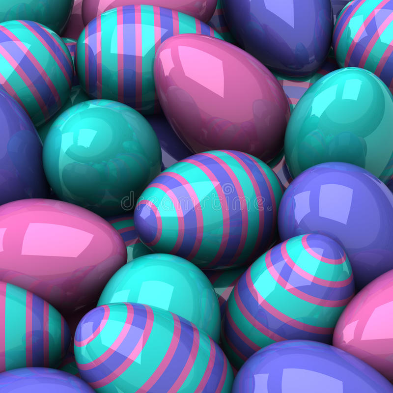 Easter eggs background 3d royalty free illustration