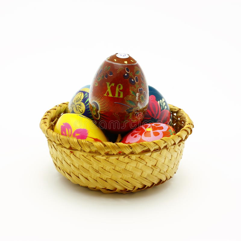 Download Easter eggs in  basket. stock image. Image of easter - 12951507