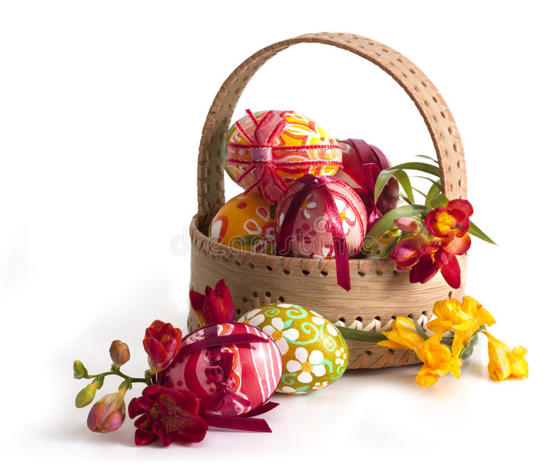 Download Easter eggs Basket stock image. Image of cutout, pisanka - 13356779