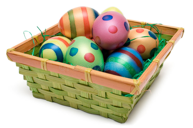 Download Easter Eggs in a Basket stock photo. Image of arrangement - 2050850