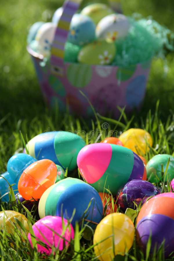 Download Easter Eggs and Basket stock photo. Image of fragile, delicate - 2076554