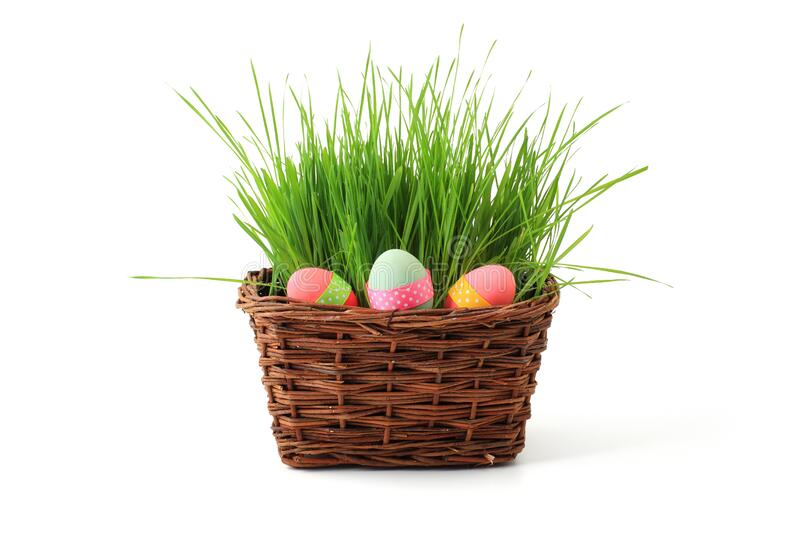 Easter Eggs In A Basket Free Public Domain Cc0 Image