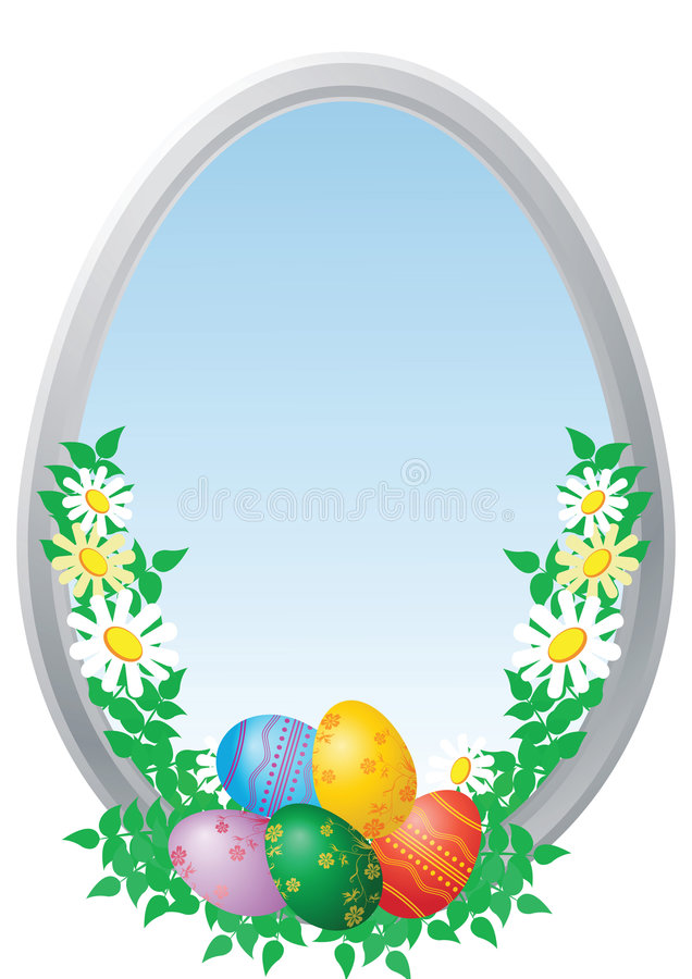 Download Easter eggs with camomiles stock vector. Image of april - 8734909