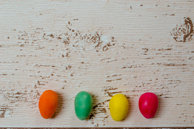 Easter eggs candy royalty free stock images
