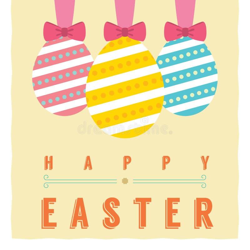 Easter Eggs. Card Vector Illustration vector illustration