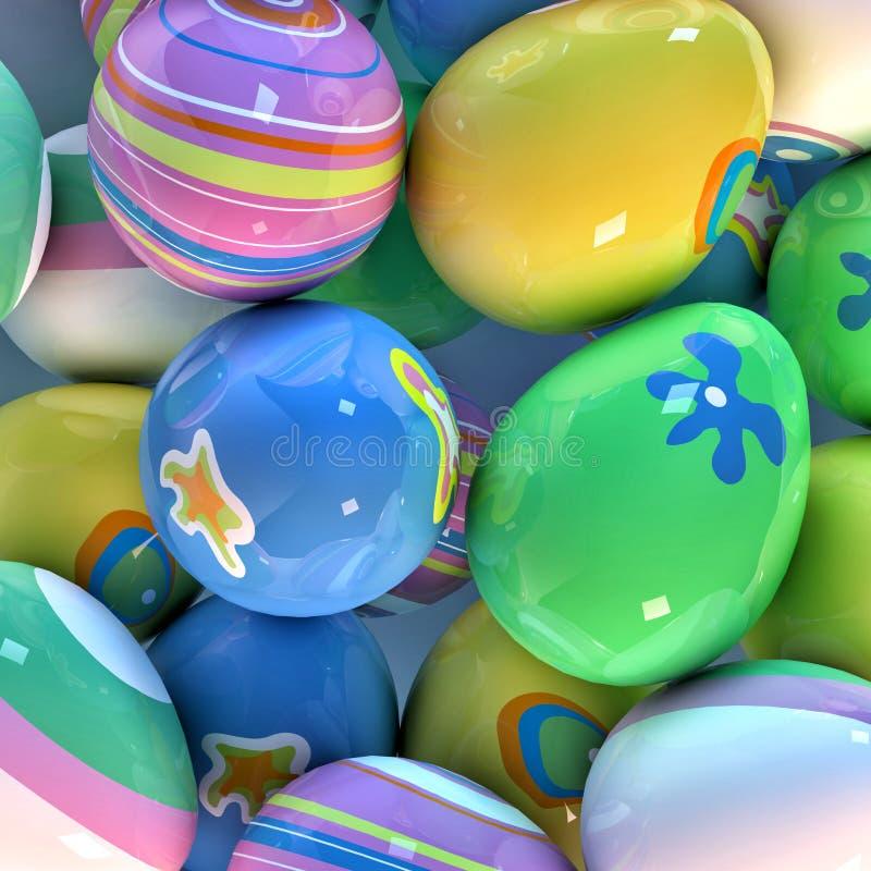 Easter eggs closeup royalty free stock photos