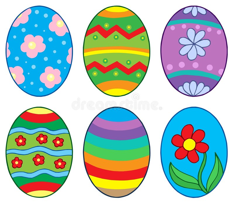 Easter eggs collection 1. Vector illustration stock illustration