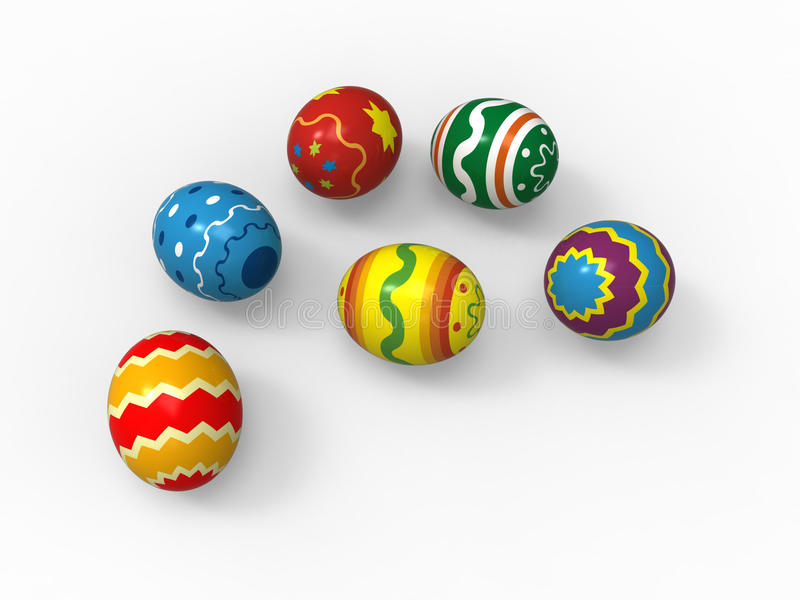 Easter eggs, color pack collection. Different patterns vector illustration