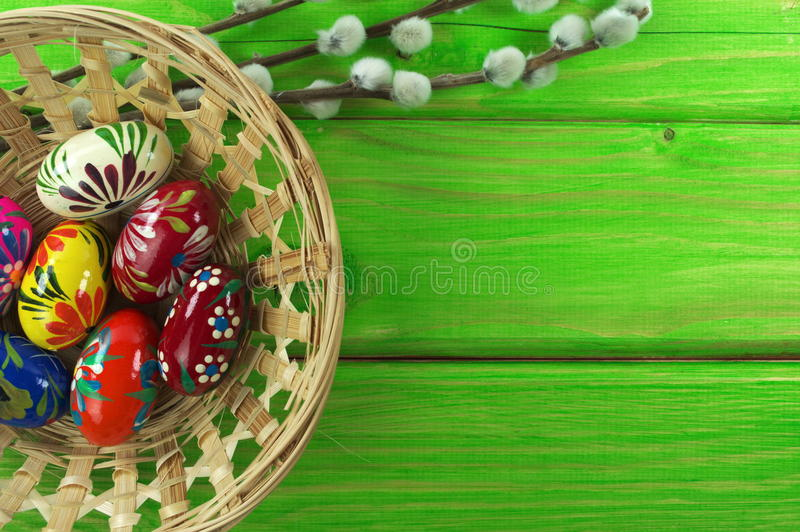 Download Easter eggs stock image. Image of colorful, boards, buckets - 39504697