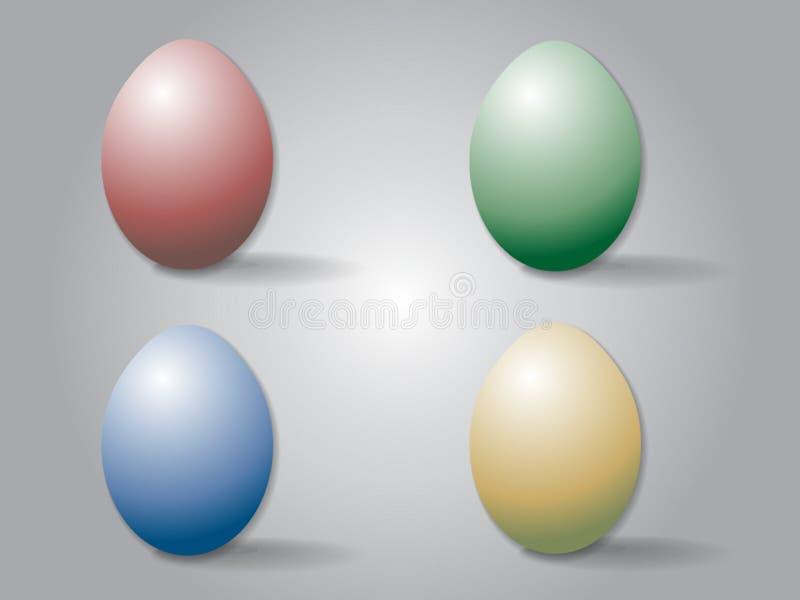 Easter eggs. Colorful four easter eggs background vector illustration