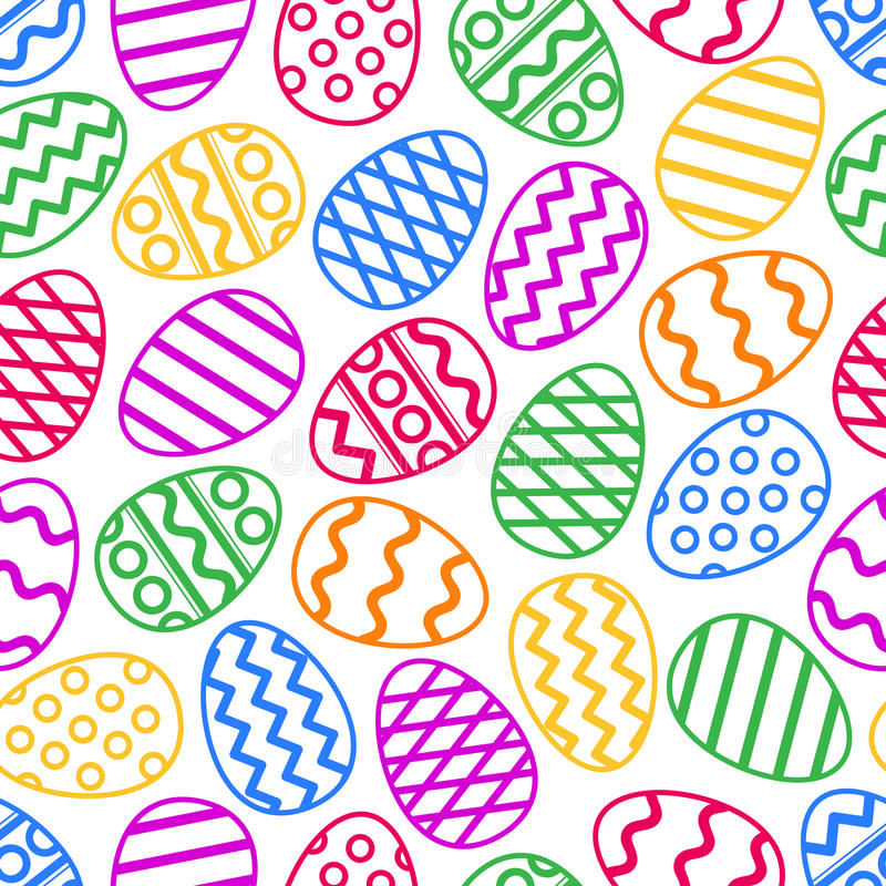 Easter eggs colorful seamless pattern. Vector illustration. vector illustration