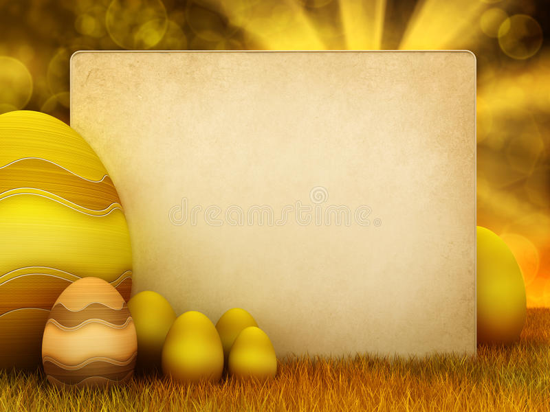 Easter Eggs And Copy Space Stock Image