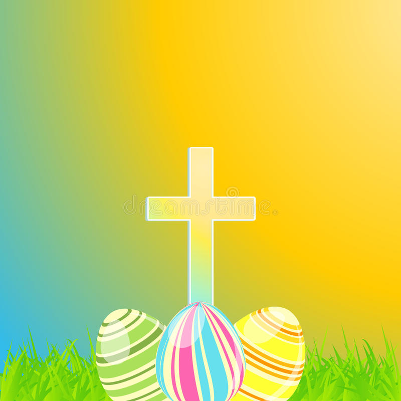 Download Easter Eggs And Cross Stock Vector Illustration Of Nature