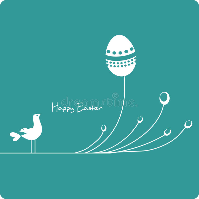 Easter eggs with cute bird. Easter eggs with cute cartoon bird