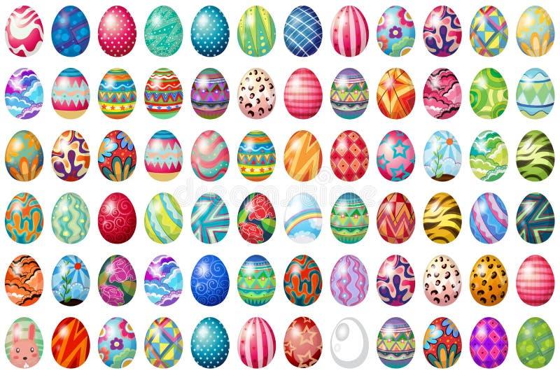 Easter eggs. Different design of easter eggs vector illustration