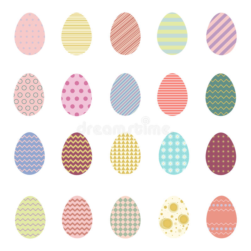 Easter eggs. Easter Vector Collection. Vector set of colorful easter eggs. Easter vector illustration stock illustration