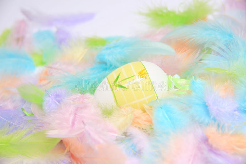 Download Easter eggs with feathers stock image. Image of icon - 22893623