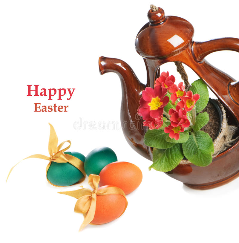 Download Easter eggs and flower stock photo. Image of pattern - 23395130