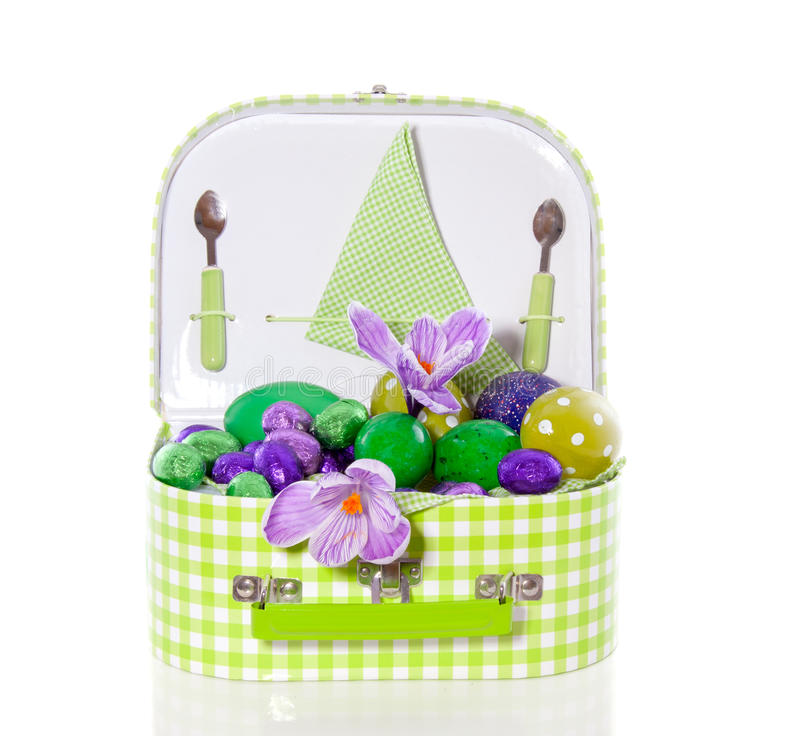 Download Easter eggs with flowers stock photo. Image of dotted - 19060106