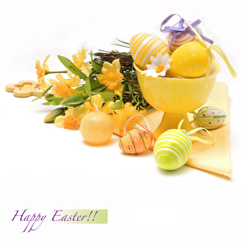 Download Easter eggs with flowers stock image. Image of seasonal - 23595373