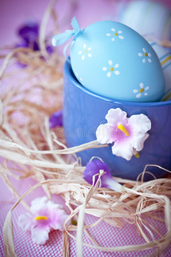 Download Easter eggs and flowers stock image. Image of nest, decorative - 28680239