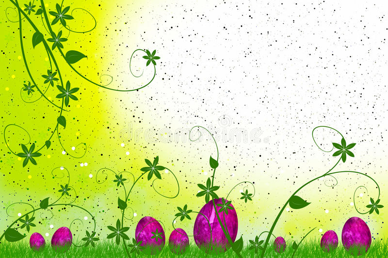 Download Easter Eggs With Flowers And Leaves Royalty Free Stock Photography - Image: 13160187