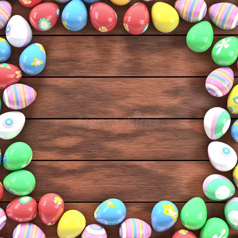 Easter eggs frame royalty free stock photos