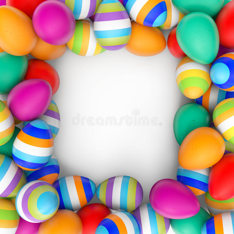 Easter Eggs frame royalty free illustration