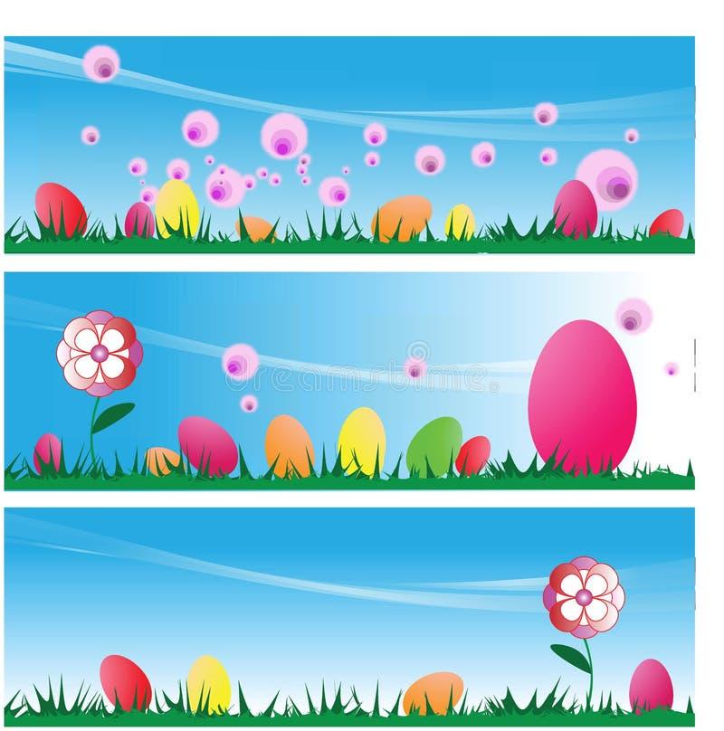 Easter Eggs On Grass stock image