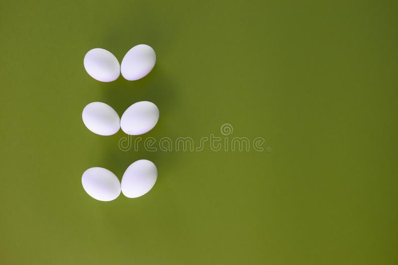 Easter eggs on green background. royalty free stock image