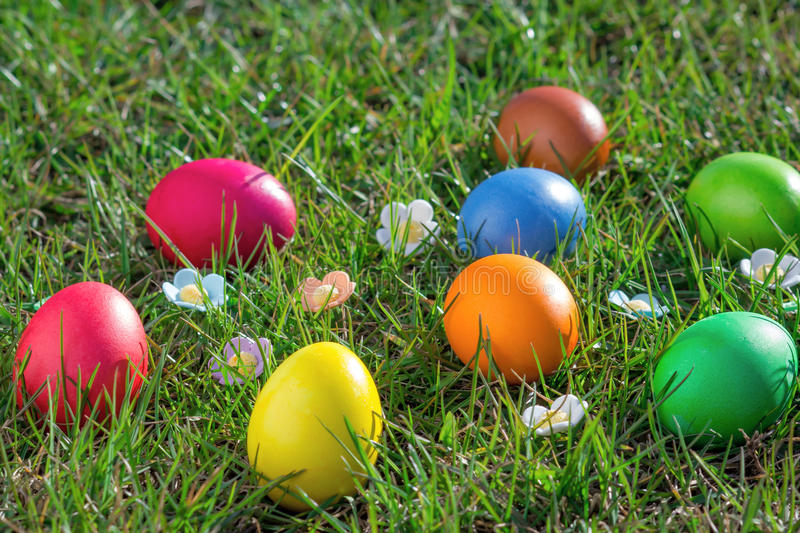 Download Easter eggs stock image. Image of idyllic, colour, garden - 39505425