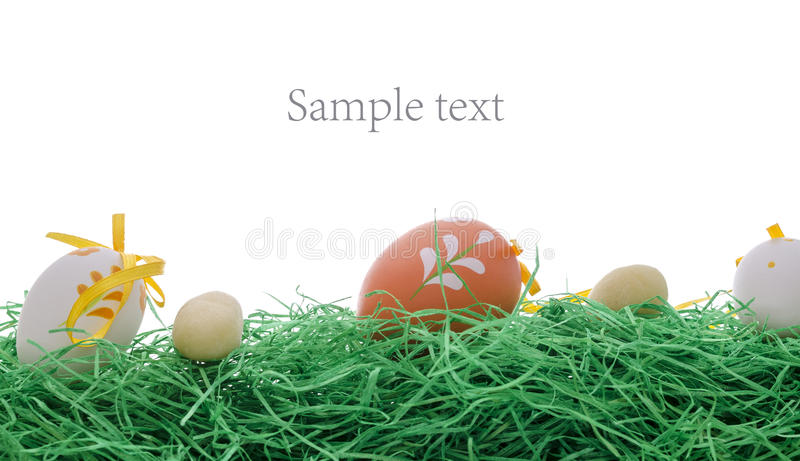 Download Easter Eggs On A Green Grass Stock Photo - Image: 29726824