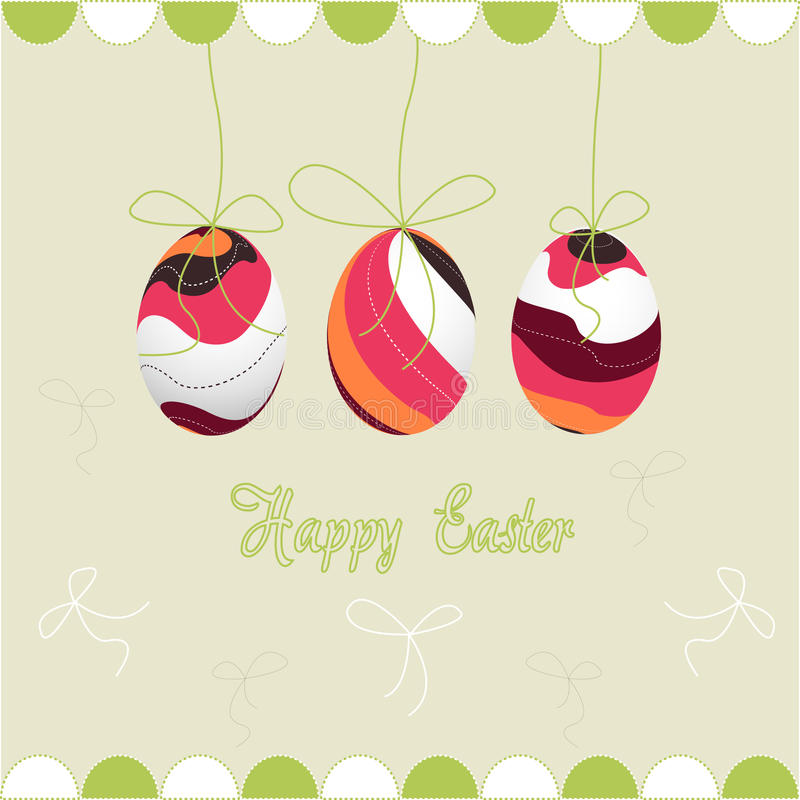 Easter eggs, happy easter stock photography