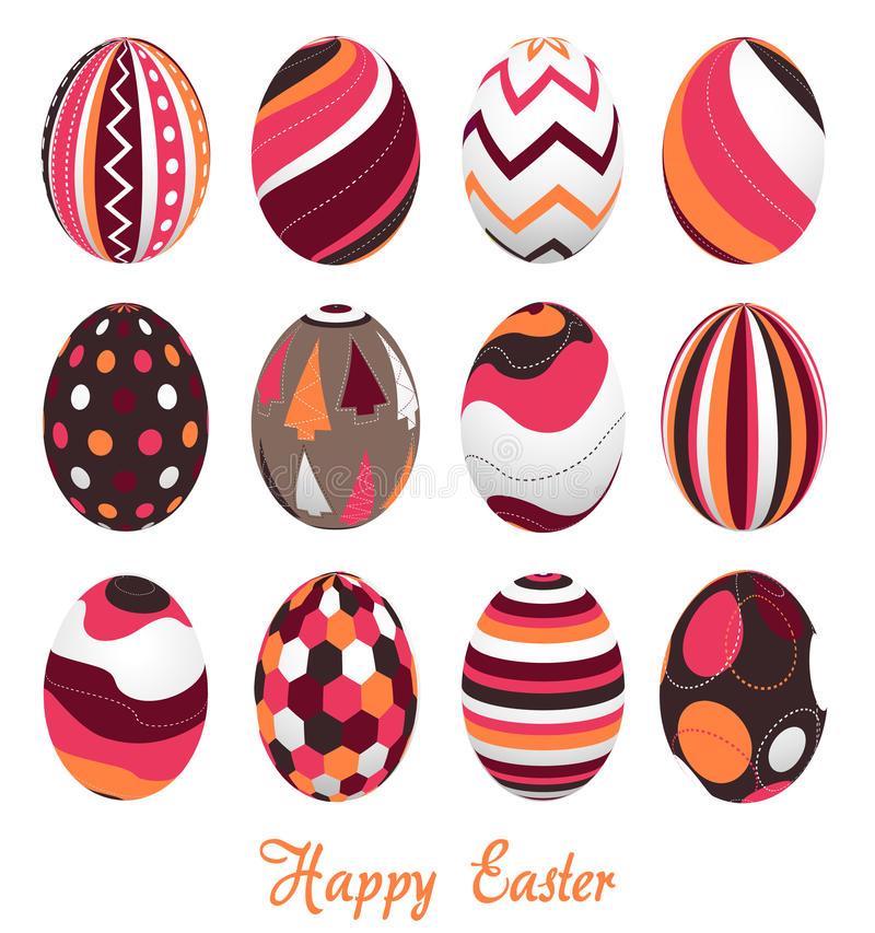 Easter eggs, happy easter stock photos