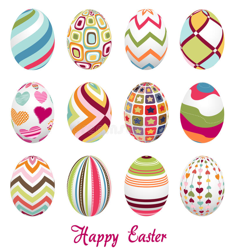 Easter eggs, happy easter royalty free stock image