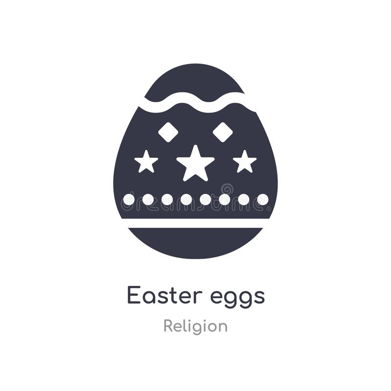 Easter eggs icon. isolated easter eggs icon vector illustration from religion collection. editable sing symbol can be use for web. Site and mobile app royalty free illustration