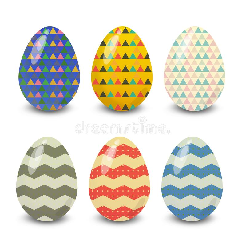 Easter eggs. Illustration isolated with background easter eggs with ornament, element for design, vector illustration stock illustration
