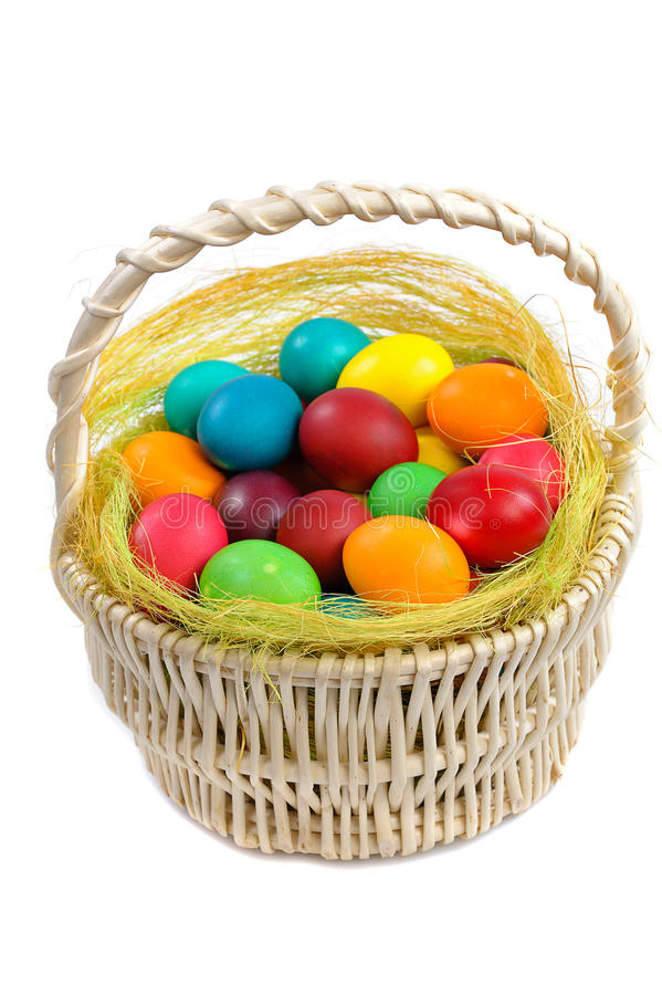 Free Easter Eggs In Basket Stock Photography - 22748612