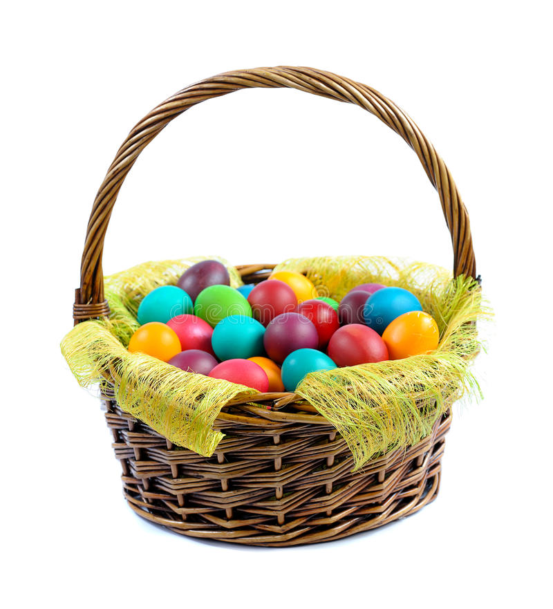 Free Easter Eggs In Basket Royalty Free Stock Image - 23415496