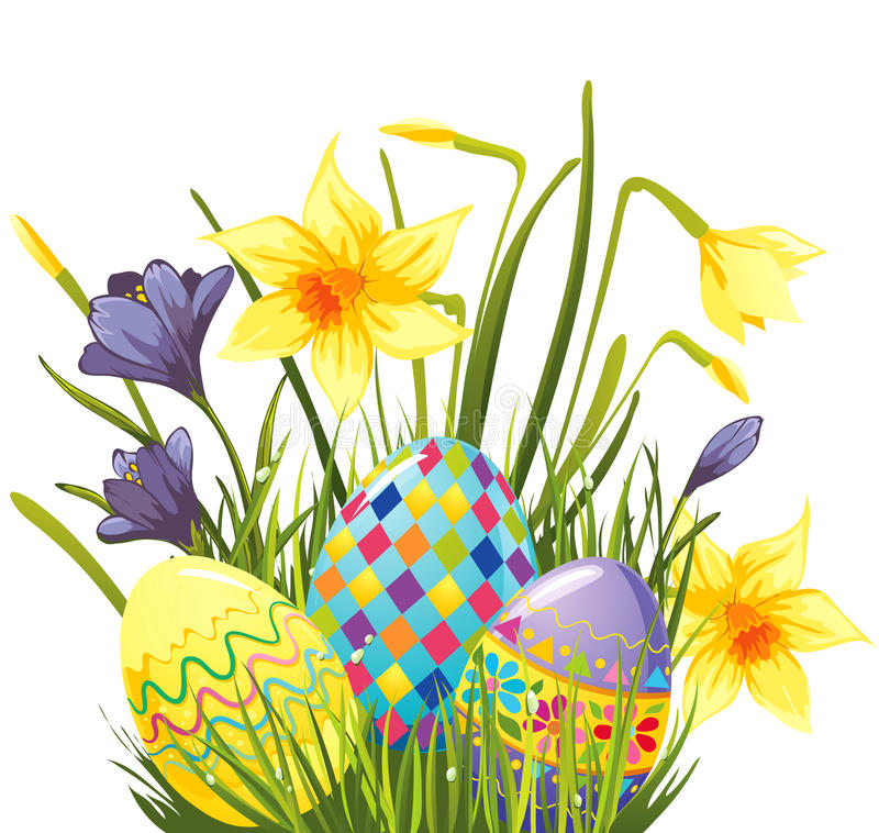 Free Easter Eggs In Grass Stock Photos - 18004383