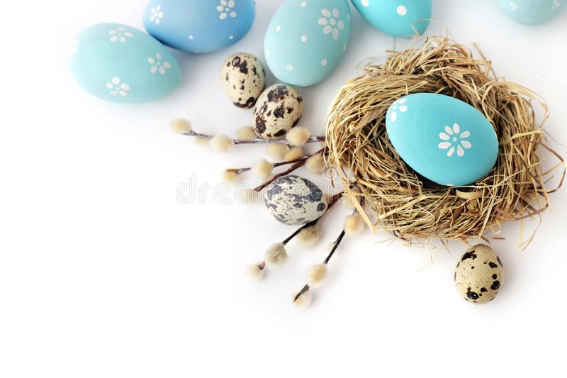 Easter eggs isolated stock images
