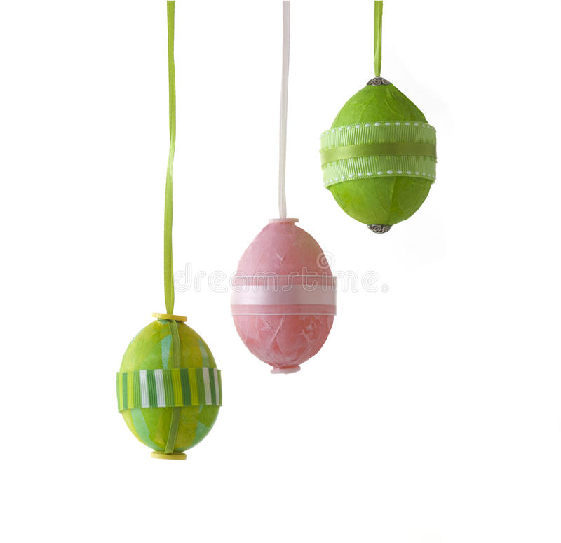 Easter eggs isolated on white with clipping path royalty free stock image