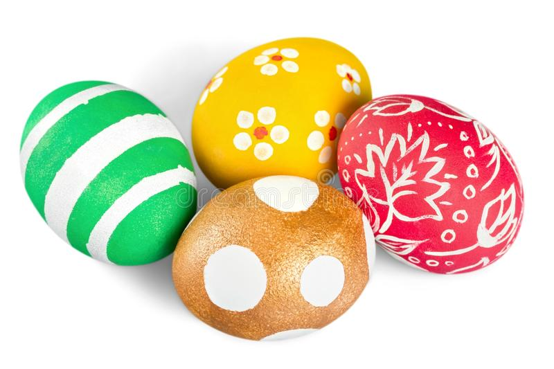 Easter eggs isolated on white. Isolated easter eggs green color white background stock photos