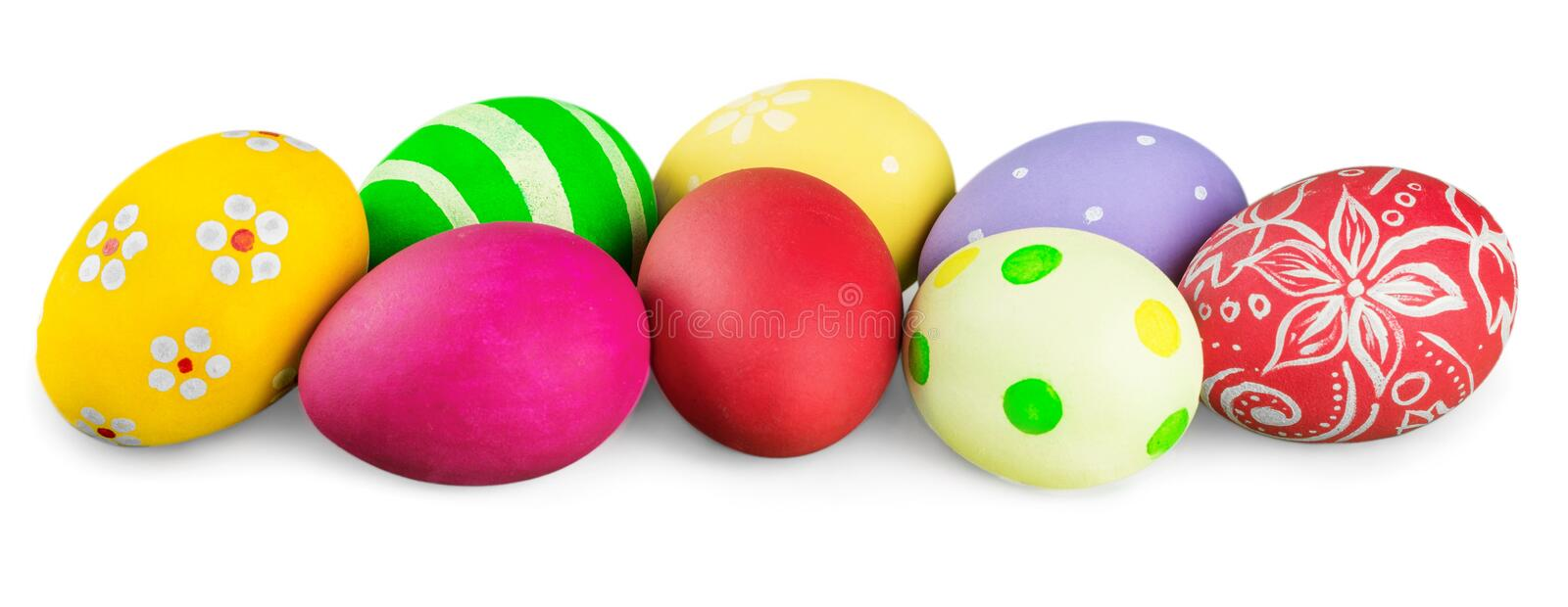 Easter eggs isolated on white. Isolated easter eggs green color white background royalty free stock images