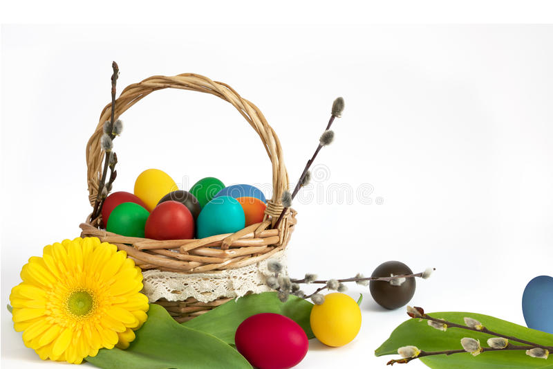Easter eggs lower decoration royalty free stock image