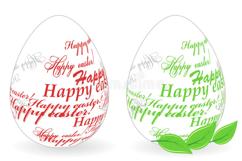 Easter Eggs Made Of Happy Easter Phrase Royalty Free Stock Images