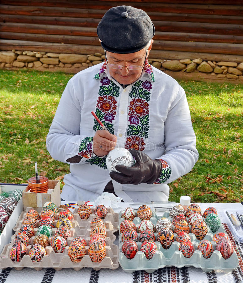 Romania Easter eggs royalty free stock photos