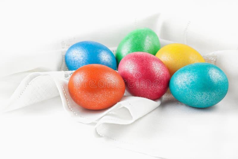 Easter eggs on the napkin