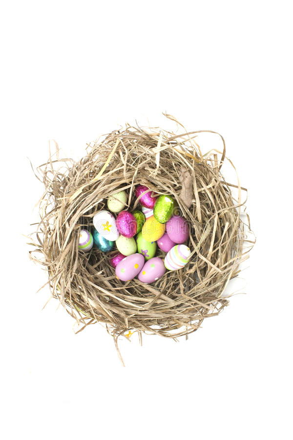 Download Easter eggs in nest stock image. Image of modern, close - 13366033
