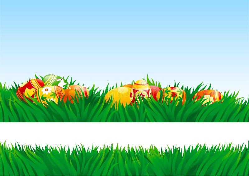 Easter Eggs Outdoor Stock Vector